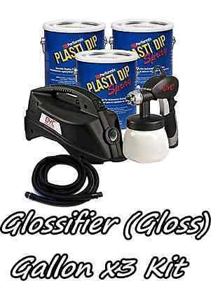 3 Gallons Glossifier Performix Plasti Dip Dyc Dipsprayer Gun Bundle Kit Package