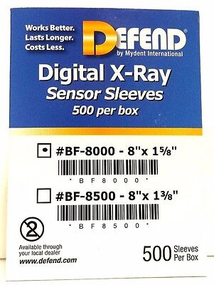 "500 pcs Digital X-Ray Sensor Sleeves 8"" x 1-5/8"" Size:2  #BF-8000"