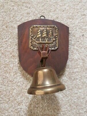 Bell Plaque (Vintage Brass Bell Plaque )