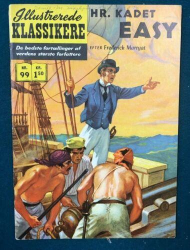 CLASSICS ILLUSTRATED #99 Midshipman Easy (1951>) Danish edition HRN 99
