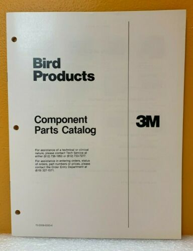 Bird Products Component Parts Catalog.