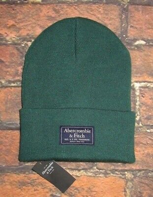 MENS ABERCROMBIE & FITCH GREEN BEANIE HAT ONE SIZE