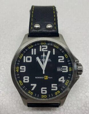 TW Steel TW671 Men's RF1 Team Pilot Black Dial Date Leather Strap Watch