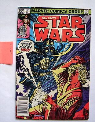 Star Wars comic book Marvel #63 C7.5   square box 70's 80's vintage 9/82    816