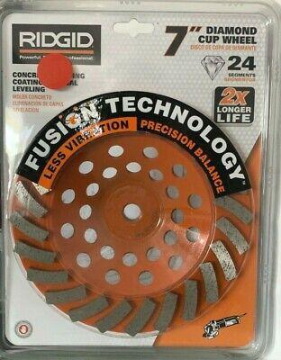 Ridgid 7 Inch Diamond Cup Wheel - Concrete Grinding - Fusion Technology