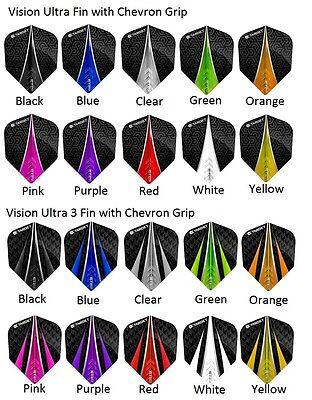 Target Pro 100 Vision Ultra - Extra Strong Dart Flights - 5 Sets (15 Flights)