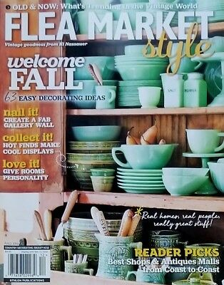 FLEA MARKET STYLE MAGAZINE WELCOME FALL 63 DECORATING IDEAS 2018 FREE SHIPPING .
