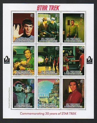 Star Trek 30th Anniversary Stamp Set - Great for collectors, ideal to frame