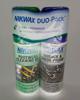 Cleaning Suede Clothes (Nikwax Fabric Leather NuBuck Suede Footwear Clean/Waterproof DUO-Pack)