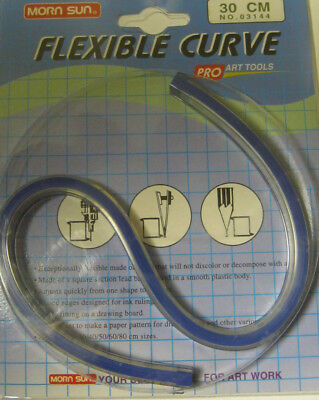 Flexibles Gekurvt Lineal Mess Kurvenlineal Werkzeug Vermessung 30cm Morn Sun