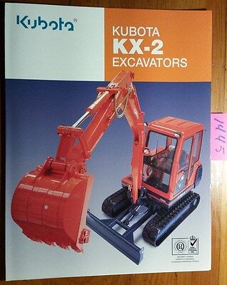 Kubota Kx-2 Kx41-2 Kx61-2 Kx91-2 Kx121-2 Kx161-2 Excavator Brochure L21121-1