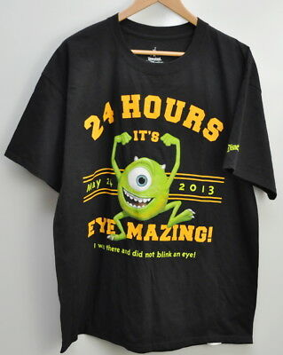 Disney Mike Wazowski Monsters Inc T Shirt Size XL Disneyland 24 Hours 2013