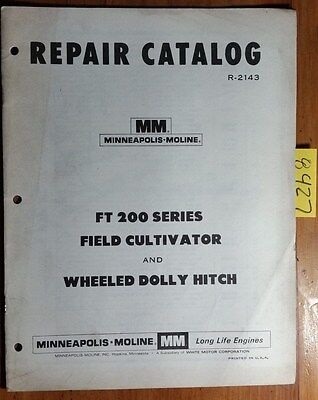 Minneapolis-moline Ft 200 Series Field Cultivator Wheeled Dolly Hitch Manual