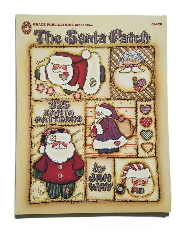Jan Way The Santa Patch Tole Painting Art Books Patterns Xmas Holiday 09428
