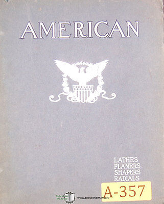 American Tool Works Collection Circulars Lathes Shapers Planers Drills Manual