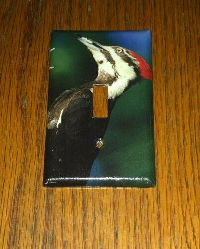 CLASSIC PILEATED WOODPECKER WILD BIRD LIGHT SWITCH COVER PLATE F