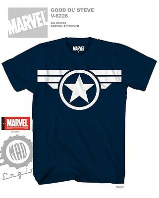 Captain America Shirts (Wings Logo Captain America Movie Blue Color Licensed)