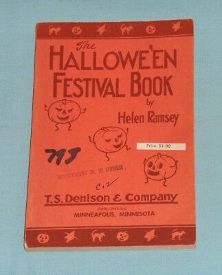 vintage Halloween THE HALLOWE'EN FESTIVAL BOOK Bogie book T.S. Denison & Co.