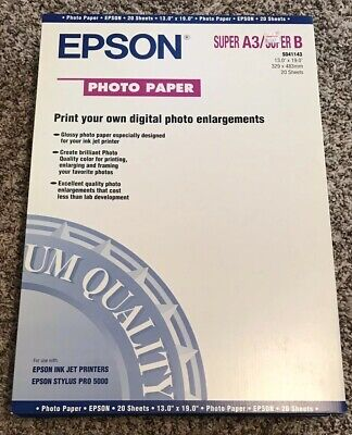 Epson Photo Paper 13.0 X 19.0 20 Sheets Brand -