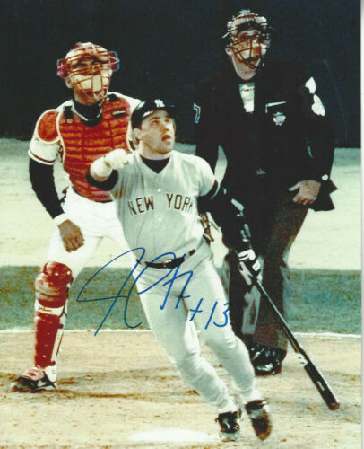 NY Yankees  Jim Leyritz  autographed 8x10 world series Home Run  Photo