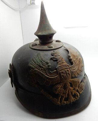 Antique 1915 German Prussian Model 1891 Inlisted Spikey Army Helmet Pickelhaube