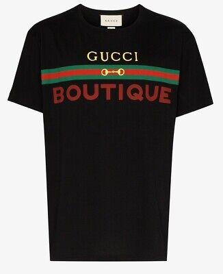Gucci Boutique Logo T-Shirt. Black. Size M