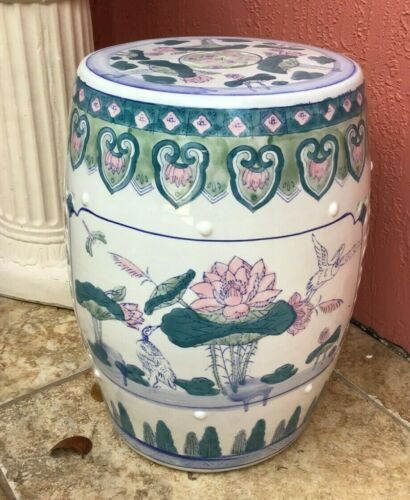 Vintage Chinese Famille Rose Porcelain Garden Stool