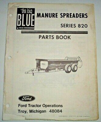 Ford Series 820 Manure Spreader Parts Catalog Manual Book 274 Original
