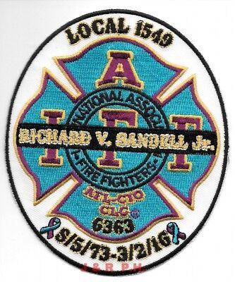 "*NEW*  Pompano Beach  I.A.F.F.  Tribute, Florida (3.75"" x 4.5"" size) fire patch"