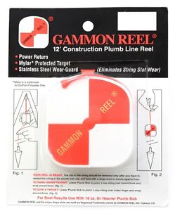 NEW 12' GAMMON REEL FOR PLUMB BOB, SURVEYING, RETRACTABLE STRING