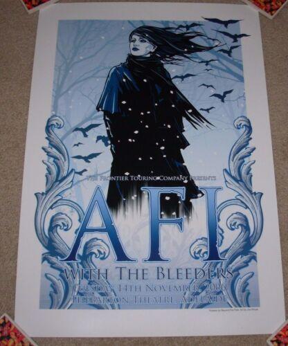 AFI concert gig poster print ADELAIDE 11-14-06 2006 silkscreen tour