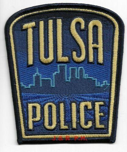 "*NEW*  Tulsa, Oklahoma (3.75"" x 4.5"" size) shoulder police patch (fire)"
