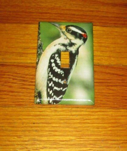 HARRY WOODPECKER WILD BIRD LIGHT SWITCH COVER PLATE