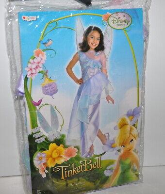 Disney Tinkerbell Fairies Silvermist Deluxe Costume Child Medium 7/8 Wings New](Silver Mist Fairy Costume)