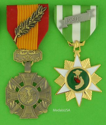 Republic of Vietnam Gallantry Cross & Campaign Medals - Full Size