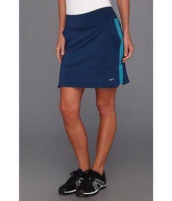 Nike Golf Women's Novelty Knit Skort, Navy/Teal  Size Small