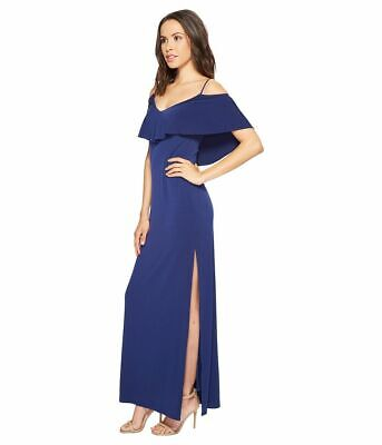 Laundry by Shelli Segal Womens Cold Shoulder Jersey Gown dress 245$ size 0