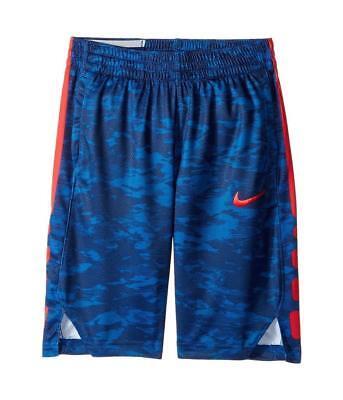 Nike Boys Dry Elite Printed Basketball Shorts Blue/Red nwt $35