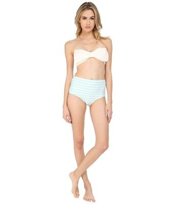 (Kate Spade New York Women's Nahant Shore High Waisted Bottom Blue/Cream SZ M)