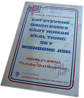 CAT STEVENS GARY NUMAN WISHBONE ASH Year Of The Child Concert 1979 metal plaque