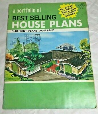 1973 Portfolio Best Selling House Plans Ranch/1-1/2 & 2 Story by National