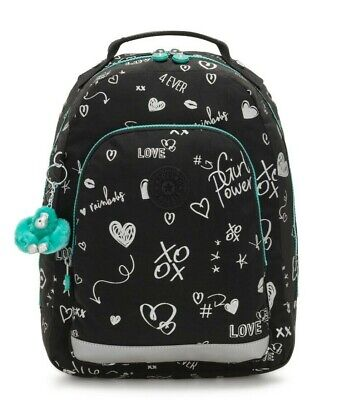 Kipling CLASS ROOM S Small backpack with laptop protection - Girl Doodle