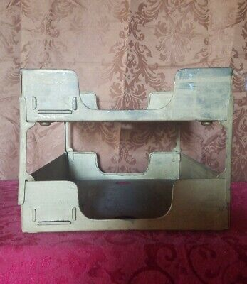 Vintage Desk Tray Two-tier Metal In And Out Mail Box Organizers