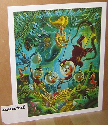 Carl Barks Kunstdruck: The Makings of a Fish Story - Scrooge, Donald Art Print