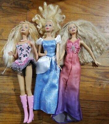 Lot Of 3 Barbie Dolls Clothes EUC Blonde Braides