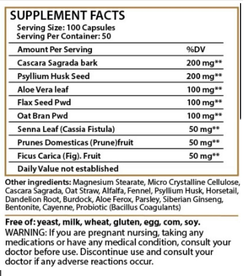 PARASITE DETOX BODY CLEANSE Complex Anti- PARASITE Kill & Cleanse 100 caps quick 2