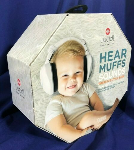 Lucid LA-INFANT-ASM-WH, HEAR Muffs Sounds - Plays Soothing Sounds - Infant - NEW