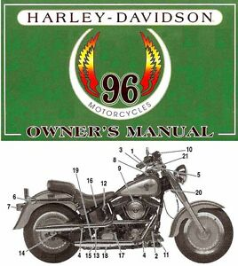 1996-HARLEY-DAVIDSON-ALL-MODELS-OWNERS-MANUAL-SPORTSTER-DYNA-SOFTAIL-TOURING
