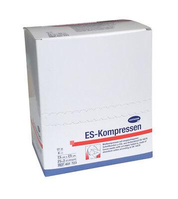 ES-Kompressen steril 8-fach 7,5 x 7,5 cm sterile Kompressen Wundauflage Hartmann