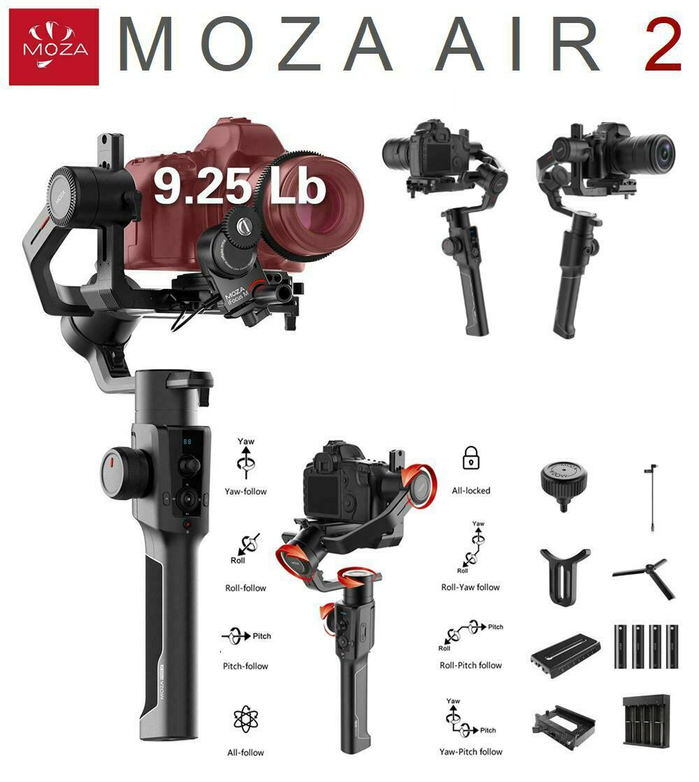 MOZA Air 2 3-Axis Handheld Gimabl Stabilizer OLED Display Sm